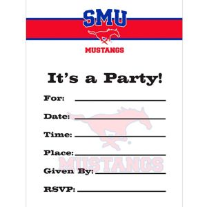 SMU Mustangs Invitations 8ct
