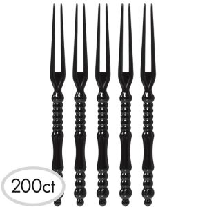 Black Plastic Cocktail Picks 200ct