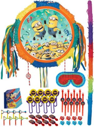 Pull String Minions Pinata Kit with Favors - Despicable Me