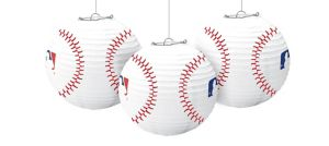 MLB Baseball Paper Lanterns 3ct