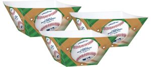 Rawlings Baseball Snack Bowls 3ct