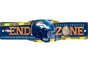 Denver Broncos End Zone Sign