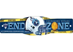 Tennessee Titans End Zone Sign