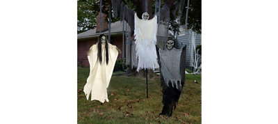 Halloween Three Hanging Porch Ghouls Decorations Kit