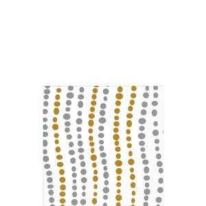 Metallic Silver & Gold Wavy Dots Beverage Napkins 16ct