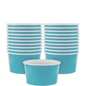 Caribbean Blue Paper Treat Cups 20ct