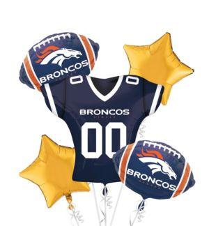 Denver Broncos Jersey Balloon Bouquet 5pc