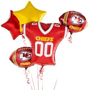 Kansas City Chiefs Jersey Balloon Bouquet 5pc