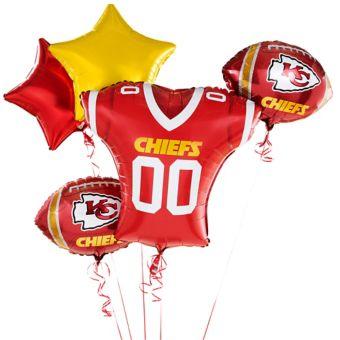 Kansas City Chiefs Jersey Balloon Bouquet 5pc