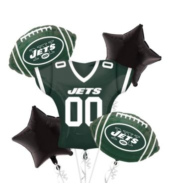 New York Jets Jersey Balloon Bouquet 5pc