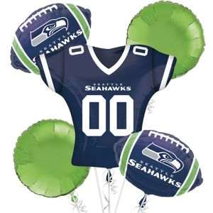 Seattle Seahawks Jersey Balloon Bouquet 5pc