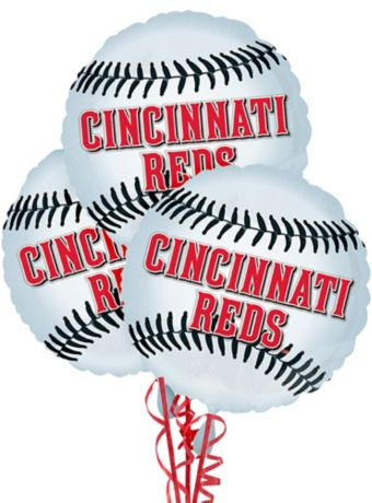 Cincinnati Reds Balloons 3ct - Baseball