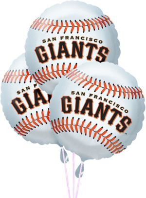 San Francisco Giants Balloons 3ct - Baseball