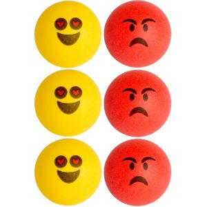 Smiley Pong Balls 6ct