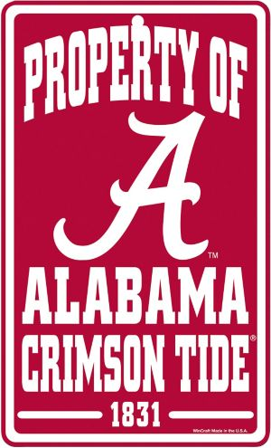 Property of Alabama Crimson Tide Sign