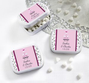 PERSONALIZED Wedding Mint Tins with Candy (Printed Label ) (Ring Engaged)