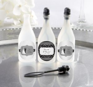 PERSONALIZED Wedding Bubbles (Printed Label) (Black & White Wedding)
