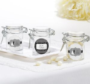 PERSONALIZED Wedding Small Glass Jars (Printed Label)