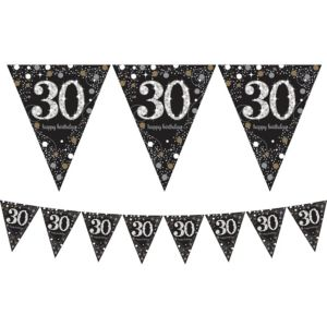 Prismatic 30th Birthday Pennant Banner - Sparkling Celebration