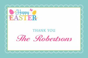 Custom Egg-citing Easter Thank You Note