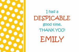Custom Yellow Birthday Thank You Note