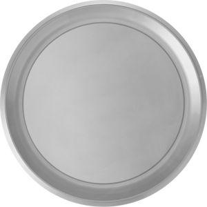 Silver Plastic Round Platter
