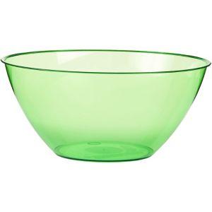 Kiwi Green Plastic Swirl Bowl
