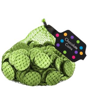Small Kiwi Green Chocolate Coins 125pc