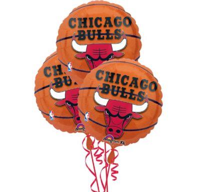 Chicago Bulls Balloons 3ct