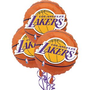 Los Angeles Lakers Balloons 3ct - Basketball