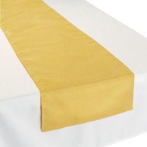 Metallic Gold Fabric Table Runner