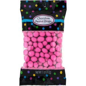 Bright Pink Peanut Chocolate Drops 150pc
