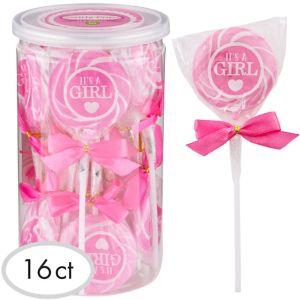 Pink Lollipop Favor Kit 16ct