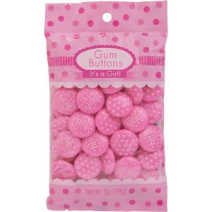 Pink It's a Girl Gum 44pc