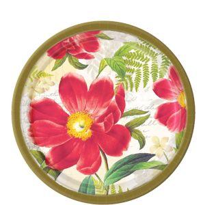 Botanical Peony Dessert Plates 8ct