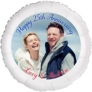 Custom 25th Anniversary Photo Balloon