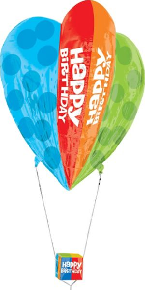 Happy Birthday Balloon - 3D Hot Air Balloon