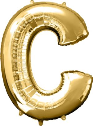 Giant Gold Letter C Balloon