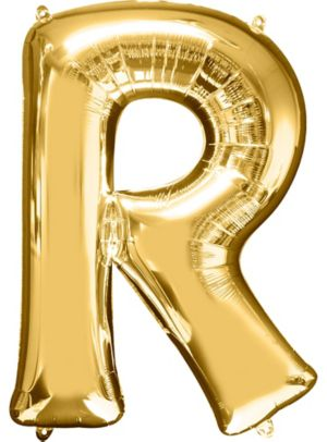 Letter R Balloon - Gold
