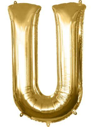 Giant Gold Letter U Balloon