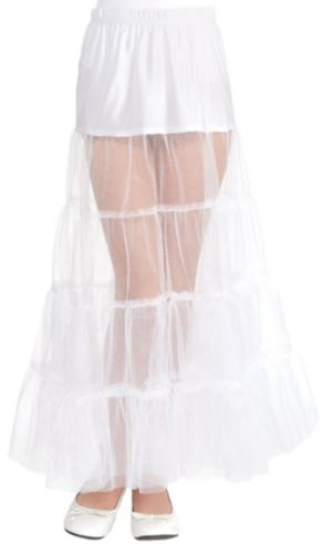 Child White Floor Length Petticoat