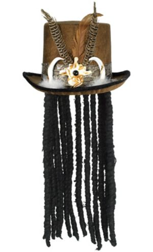 Witch Doctor Top Hat with Dreads