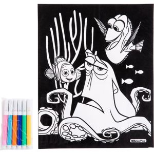 Finding Dory Velvet Coloring Poster with Markers