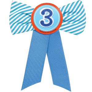 Blue 3rd Birthday Award Ribbon