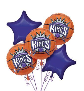 Sacramento Kings Balloon Bouquet 5pc - Basketball