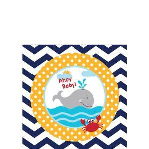 Ahoy Nautical Baby Shower Beverage Napkins 18ct