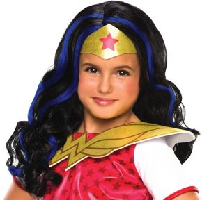 Child Wonder Woman Wig - DC Super Hero Girls