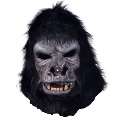 gorilla mask with moving mouth 10in x 14in party city