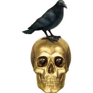 Boneyard Crow & Gold Skull