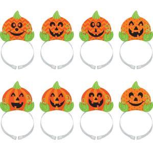 Jack-o'-Lantern Headbands 8ct
